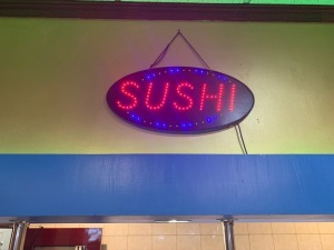 "NEON "" SUSHI"" SIGN"
