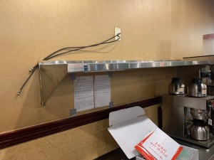 6 FT. STAINLESS STEEL WALL SHELF LOT
