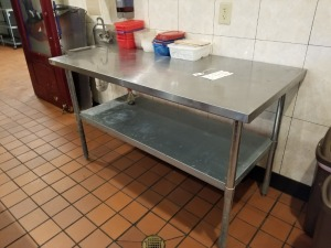 5 FT STAINLESS PREP TABLE