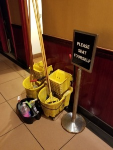 MOP BUCKETS AND CLEANING SUPPLY LOT