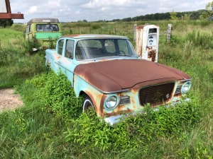 Green Studebaker 4 Door Car