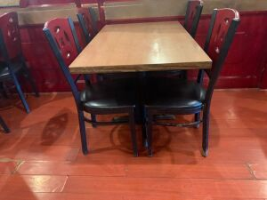 (1) TABLE AND (4) CHAIRS LOT