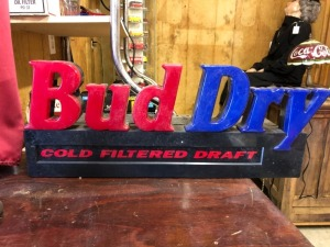 Bud Dry Lighted Sign