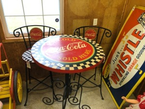 3-PC Coca-Cola Resturant Hi-Top Table and 2 Chairs