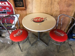 3-PC Coca-Cola Resturant Table and 2 Chairs