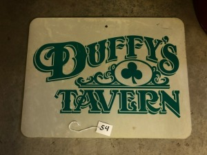 Duffy's Pub Road Sign