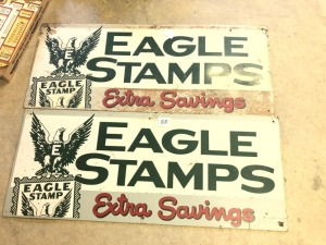 2- Eagle Stamps Extra Savings  Wood Board Signs