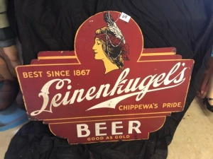 Leinenkugle's Chippewa's Pride Beer Sign SST