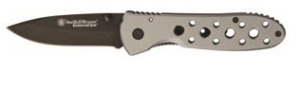 Knife 4.5 closed. 3.5 black coated stainless clip point