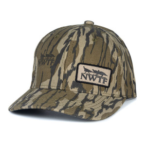 Mens NWTF Bottomland Cap w NWTF Patch on Front Left Patch