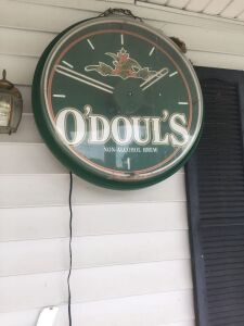 O'Doul's Beer Clock With Neon Ring