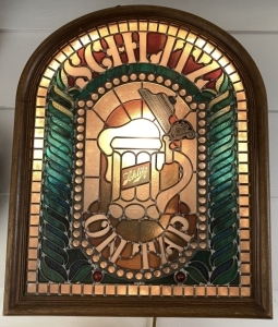 Schlitz Lighted Stained Glass Sign
