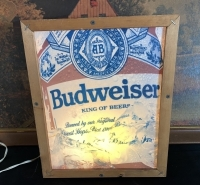 Budweiser Beer Lighted Sign - 2