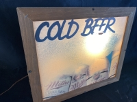 Miller Cold Beer Lighted Sign - 2