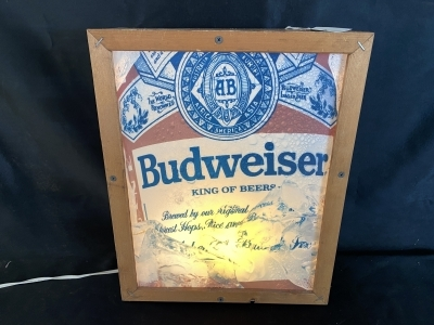 Budweiser Beer Lighted Sign