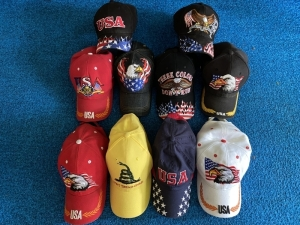 Assorted USA Hats - 12
