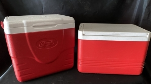 2 Small Coolers