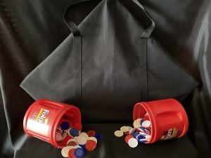 Poker Table Topper and Chips