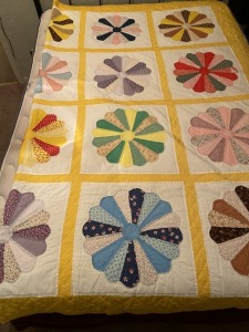 Antique Hand Stitched Queen Size Quilt