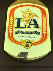 Lighted Anheuser-Busch Light Alcohol Beer Sign