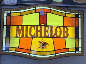 Michelob Lighted Stained Glass Sign
