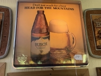Busch Head for the Mountains Lighted Sign