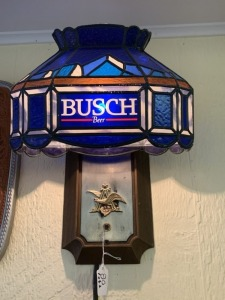 Busch Beer Stained Glass Wall Light