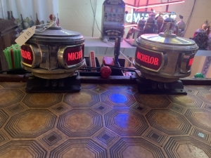Two Lighted Michelob Bar Caddies