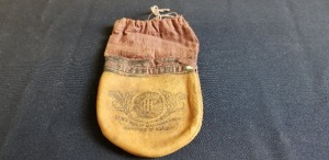 International Harvester leather/cloth tobacco pouch