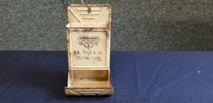 McCormick-Deering Farm Machines and Implements metal matchbox holder