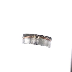 Damascus Steel Wedding Band Size 9.75
