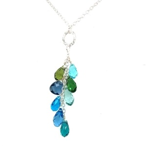 Holly Yashi Aqua Lorelei Cluster Necklace