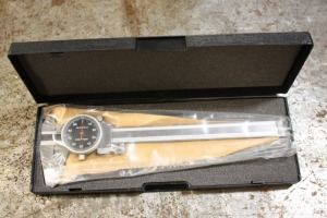 "6"" dial caliper with box, black faced"