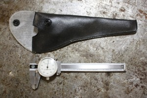"4"" dial caliper with holster"