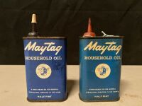 MAYTAG HOUSEHOLD OIL CANS - PARTIALLY FULL - 2