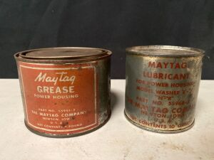 MAYTAG GREASE CANS - FULL - 2