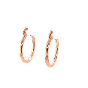 Lady's Rosé Vermeil Small Hoop Earrings