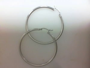Lady's Sterling Silver Large Hoop Earrings