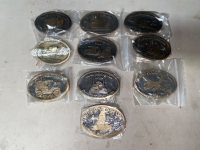 TEN MAYTAG COLLECTOR'S CLUB BELT BUCKLES