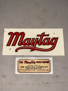 MAYTAG DECALS