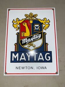 PORCELAIN MAYTAG SIGN - 12 INCH