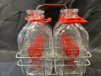 Prairie Farms Dairy Bottles in Caddy - 3