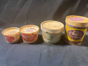 FOUR ICE CREAM CONTAINERS