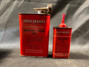 TWO DAVID BRADLEY OIL CANS