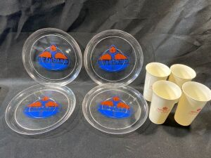STANDARD OIL PLASTIC PLATES AND CUPS