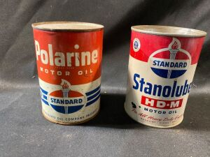 TWO STANDARD OIL CANS