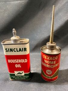 TEXACO AND SINCLAIR OIL CANS - FULL