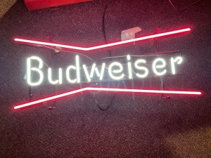 Budweiser Neon - Pre WWII Ruby Red Glass