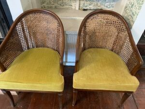 Wicker back chairs