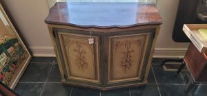 2 painted buffet cabinets
